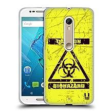 Head Case Designs Bio Hazard Symbols Soft Gel Case for Motorola Moto X4