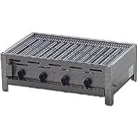 Tischbräter klein silber Tableroaster 3+1 Gas Brenner 4-flammig Balkon ✔ eckig ✔ Grillen mit Gas ✔ für den Tisch