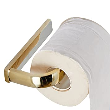 weare home gold finish solid brass made bathroom accessories wall mounted modern toilet paper roll holder