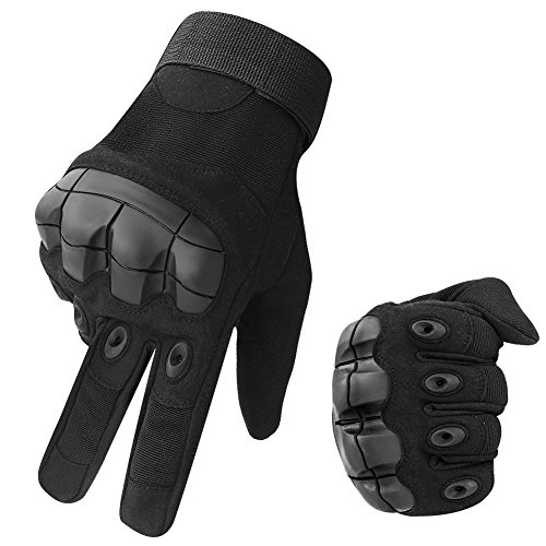Accmor Touch Screen Tactical Military Hard Knuckle Combat Gloves Full Finger Fit for Cycling Motorcycle Hiking Camping Airsoft (Tactical Full Finger)