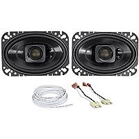 Jeep Wrangler Yj 87-95 Polk Audio 4x6 Waterproof Front Speaker Replacement Kit