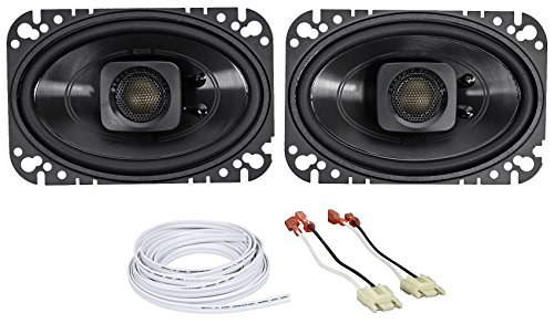 Jeep Wrangler Yj 87-95 Polk Audio 4x6 Waterproof Front Speaker Replacement Kit