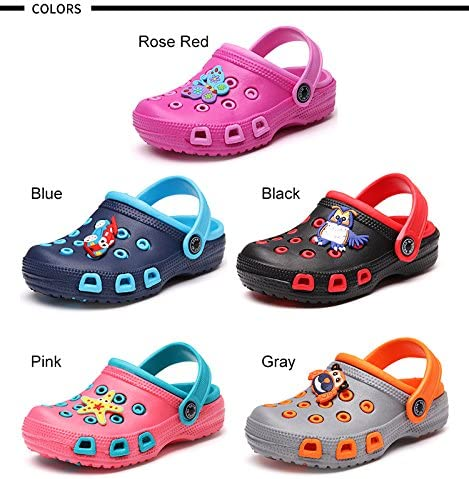VILOCY Kids Cute Garden Shoes Cartoon Slides Sandals Clogs Children Beach Slipper