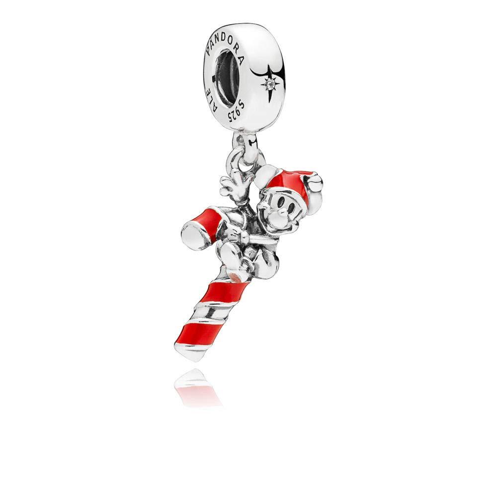 ab406a14d PANDORA Disney Santa Mickey's Candy Cane 925 Sterling Silver Charm -  797500EN09