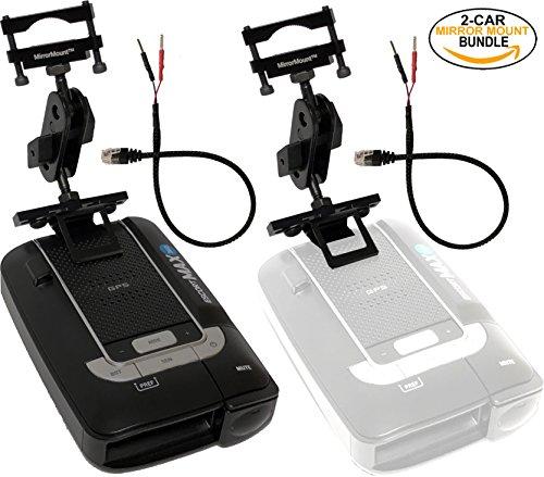 Escort Max 360 Radar Detector (Black) + 2 RadarMount MirrorMount Radar Detector Brackets + 2 RadarMount MirrorWire Power Cords (2-CAR BUNDLE)