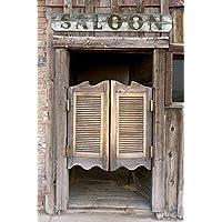 5x7ft Silk Backdrop Background Barn Door Photography Background Western Saloon Doors backdrop Z-34