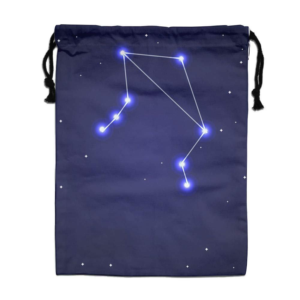 HACVREQ Personalized Drawstring Bag-The Magical Starry Sky Holiday/Party/Christmas Tote Bag,15.7 X 11.8In