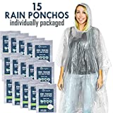 Lingito Rain Poncho, Disposable Emergency Rain