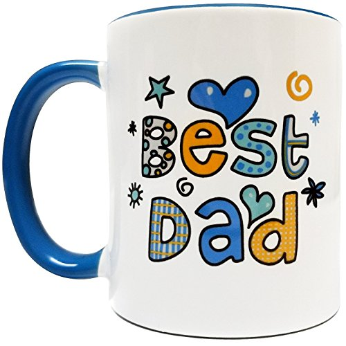 Best Dad 11Oz Coffee Mug - Grade A Quality Ceramic - Great for Fathers Day, Birthdays, Holidays - Foam Box Protected (Perfect Gift)