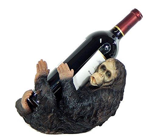 Captain Wine Bottle Holder (Bellaa Drinking Gorilla Wine Bottle Holder Statue)