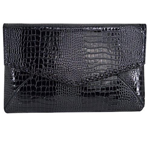 Evening Handbag Top Bag Print Shoulder Envelope Millya Bag Women Handle Black Crocodile Clutch Party Shaped HYqxxtUwf