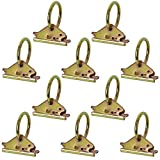 Homend 10-Pack Steel E-Track O Ring Tie-Down Anchors for E-Track TieDown System, Secure Cargo in Enclosed/Flatbed Trailers, Trucks (ETrack Rails Not Included)