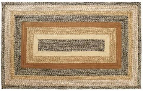 VHC Brands 10125 Primitive Flooring Prim Grove Jute Rectangle 60×96 Rug, Plain