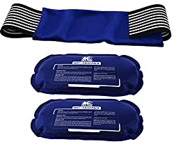 Ice Pack (2-piece Set) – Reusable Hot & Cold Therapy Gel Wrap Support Injury Recovery, Alleviate Joint & Muscle Pain – Rotator Cuff, Knees, Back & More