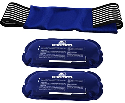 Ice Pack (2-Piece Set) - Reusable Hot and Cold Therapy Gel Wrap Support Injury Recovery, Alleviate Joint and Muscle Pain - Rotator Cuff, Knees, Back & More (Gel Reusable Kold Hot)