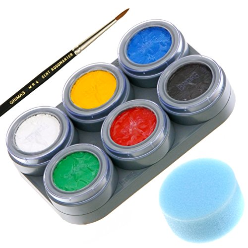 Professional 6 Color Face Painting Kit Water