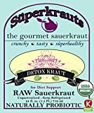 Detox SAUERKRAUT for Diet Support - Organic & Kosher, 24 fl. oz., Raw Fermented, Unpasteurized, Probiotic. No Shipping charges with Minimum. 17 flavors available!