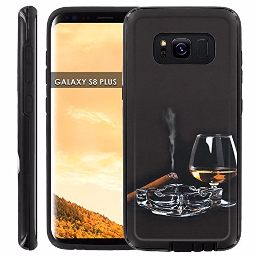 Galaxy S8Plus Slim Case [Case86] Executive Phone Case [Screen Protector] INCLUDED - [Cigar Whiskey] for Samsung Galaxy S8+ [6.2