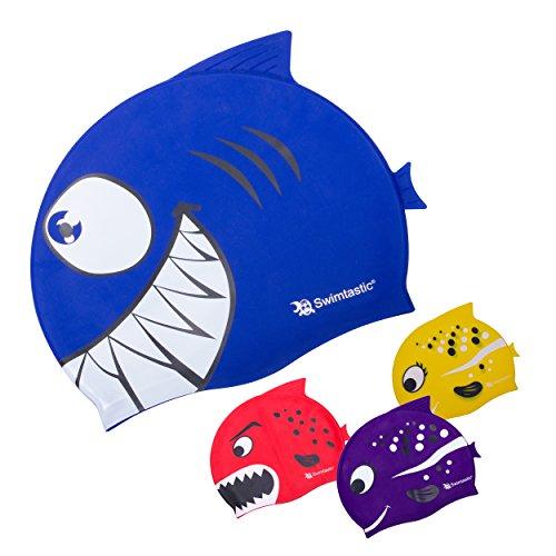 Swimtastic Kids Sharks & Minnows Swim Cap – Entertain Both Boys & Girls for Hours! – DiZiSports Store