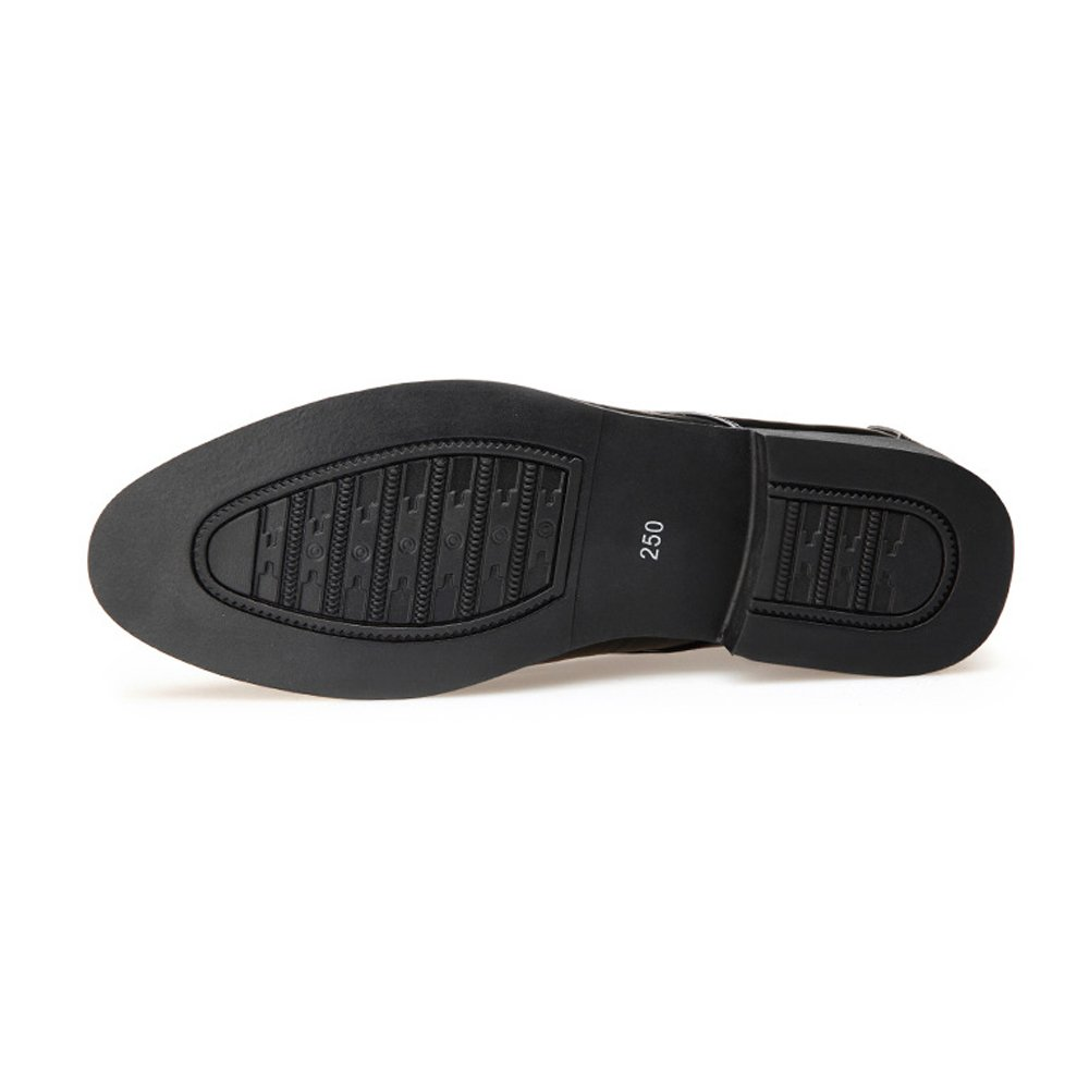 Xujw-schuhe, 2018 der Schuhe herren, Formale Geschäfts-Schuhe der 2018 Männer glätten PU-lederne Spleiß-obere Spitze oben Breathable gefütterte Oxfords (Farbe : Schwarz, Größe : 42 EU) Braun b2c675