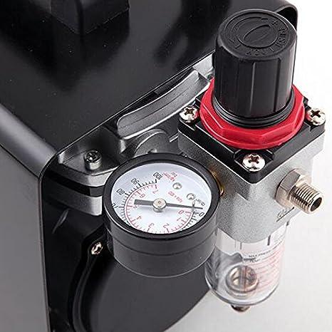 Compresor de aerógrafo Original Fengda FD-18A / regulador de presión / 4 bar / parada automática: Amazon.es: Bricolaje y herramientas