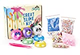 New Ultimate Slime Making Kit – Fluffy and Glittery DIY Slime Supplies – Slime Set with 6 Colors and 4 Foam Balls for Slime – Perfect Toy for Children – Enhances Creativity and Smartness