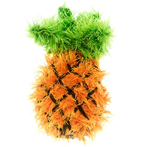 durable service Oomaloo Handmade Pineaple Squeaky Dog Toy_Large