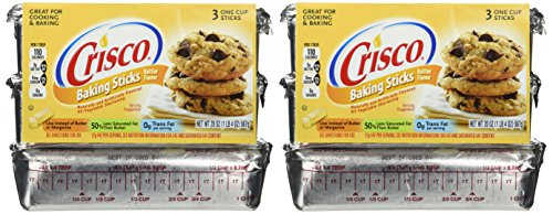 Crisco, Baking Sticks, Butter Flavor, All Vegetable Shortening, 20oz Package (Pack of 2) by Crisco