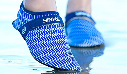 Wonvatu Mens Womens Fashion Durable Sohle Barfüßigwasser Wasser Schuhe Für Beach Swim Drive Yoga Surf Blau