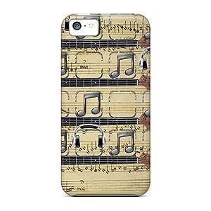 Cute Appearance Cover/tpu Music Note Shelf Case For Iphone 5c