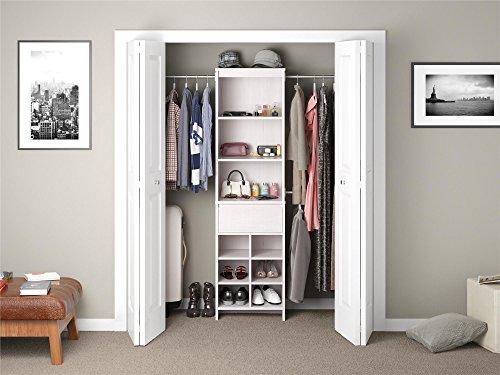 (Ameriwood Home Adult Closet Organizer, Vintage White)