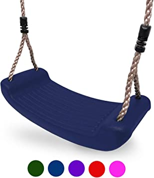 Also Available in Blue /& Red HIKS Deluxe Green Childrens Kids Garden Swing with Adjustable Ropes Included Ideal for Swing Sets and Climbing Frames