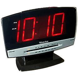 CLOCK RADIO ALRM 1.8 LED by WESTCLOX MfrPartNo 80187A