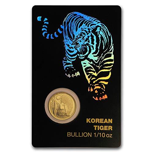 2018 KR 2018 South Korea 1/10 oz Korean Tiger Gold 1 Clay 1/10 OZ ()
