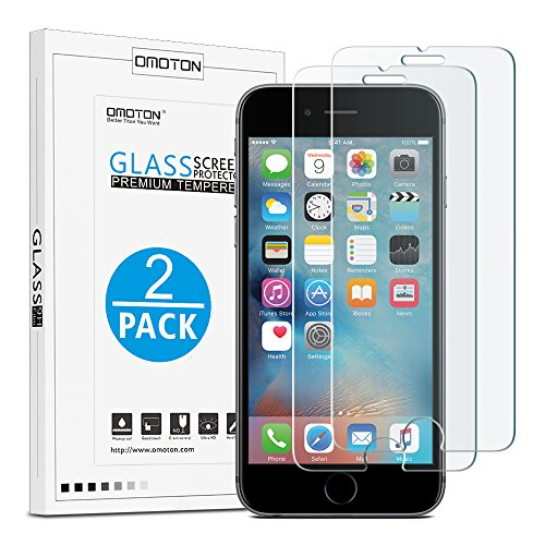 OMOTON iPhone 6/6s Screen Protector, Tempered Glass Screen Protector with...