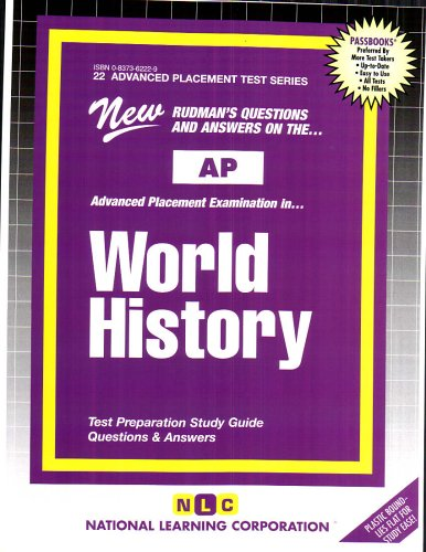 WORLD HISTORY (Advanced Placement Test Series) (Passbooks) (ADVANCED PLACEMENT TEST SERIES (AP))