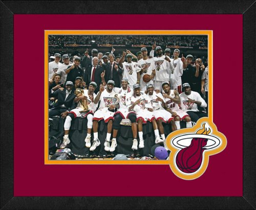 2012 Team Framed Photo - Miami Heat 2012 NBA Championship Team Celebration Framed 8x10 Photo
