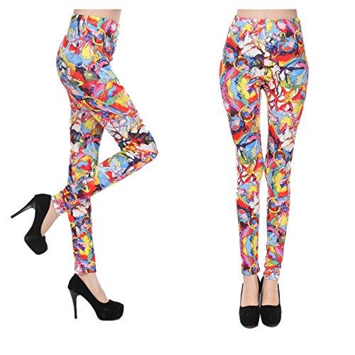 Lady Coloré Banderoles En Soie Imprimé En Soie Pantalon De Yoga Perte De Poids Doux Leggings Super élasticité Fitness Collants Confort