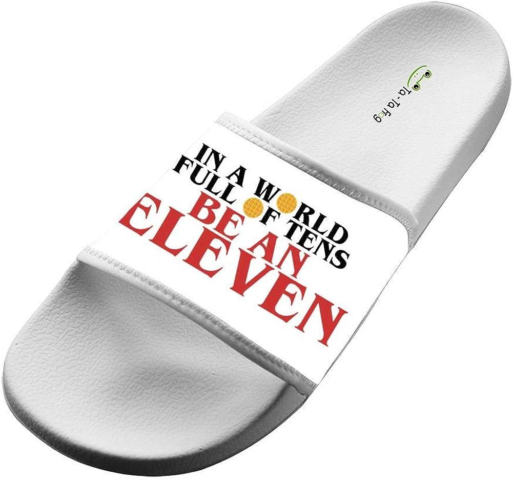 Wide Upper Soft Slip-On Slide In A World of Tens Eleven Slippers Beach Flat Slide Sandal for Men Womens