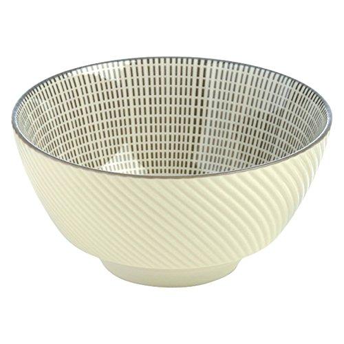 BIA Set of 4 Tao Rice Bowls Grey, Porcelain, 120x120x60 ()
