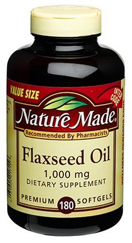 Nature Made Flaxseed Oil 1000mg, 180 Softgels (Pack of 3)