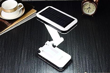 Lampe solaire de bureau rechargeable pliable et réglable