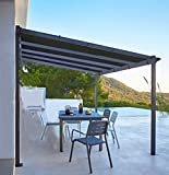 Shatex Shade Panel Block 90% of UV Rays with Ready-tie up Ribbon for Pergola/Greenhouses/Carport/Porch 12x12ft Black