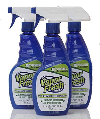 Vapor Fresh Natural Cleaning and Deodorizing Spray - Great for Sports Pads, Yoga Mats, Shoes, Boxing Gloves and Gym Equipment, 16 Ounces (3-Pack)