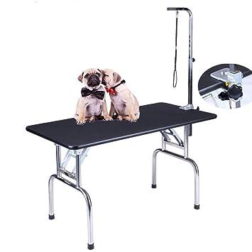 7ff2fa829569 DZENJ Mesa Plegable Aseo de Perros Mascotas peluqueria Canina Cepillado  exhibicion Pro Mesa de Belleza portátil