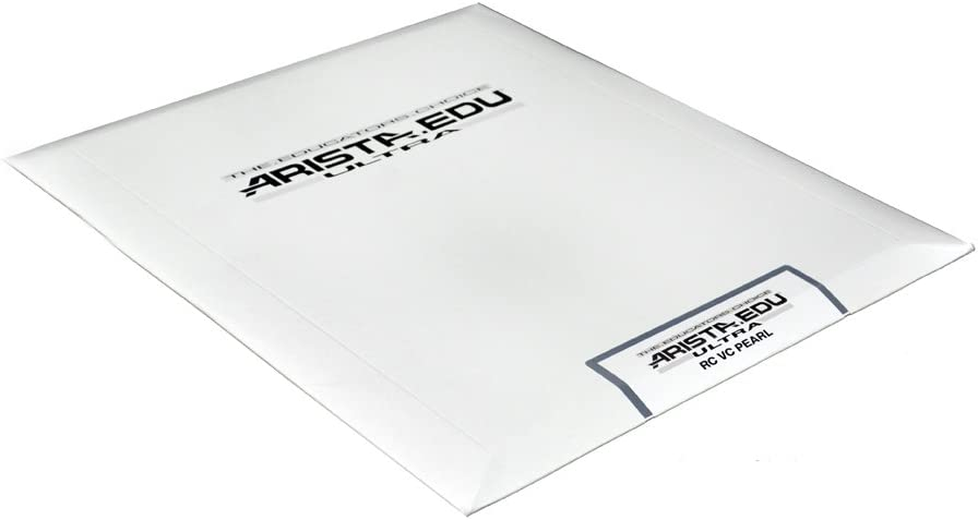 Arista EDU Ultra VC RC Black & White Photographic Paper, Pearl, 8x10, 25 Sheets