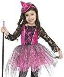 Best Charades Girls Halloween Costumes - Charades Girls Glitter Pink Witch Kids Halloween Costume Review