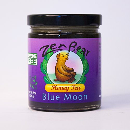 Blue Moon | Herb Infused Raw Honey Tea with Blueberry, Lavender, Maca, Red Raspberry Leaf, Nettle, Red Clover | A treat for blueberry and honey lovers | 8OZ jar ()