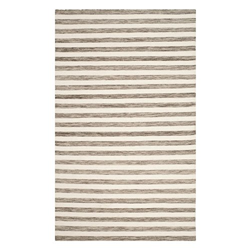 Safavieh Dhurries Collection DHU575E Hand Woven Brown and Ivory Premium Wool Runner 2 6 x 10