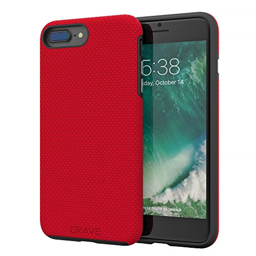 iPhone 8 Plus Case, iPhone 7 Plus Case, Crave Dual Guard Protection Series Case for Apple iPhone 8/7 Plus (5.5 Inch) - Red